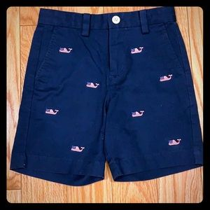 Vineyard Vines Flag Whale Embroidered Shorts 4T